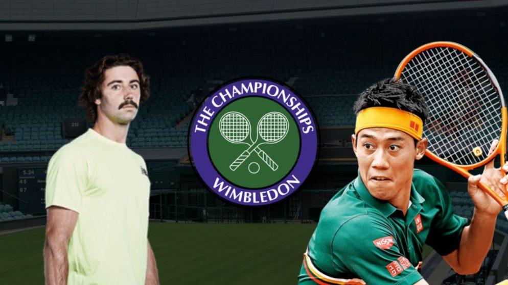 Apostas Kei Nishikori vs Jordan Thompson Wimbledon 01/07/21
