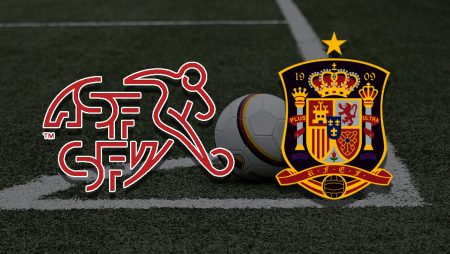 Apostas Suíça vs Espanha Euro 02/07/21