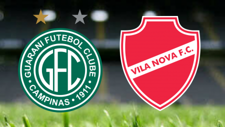 Apostas Guarani vs Vila Nova Brasileirão Série B 31/07/21