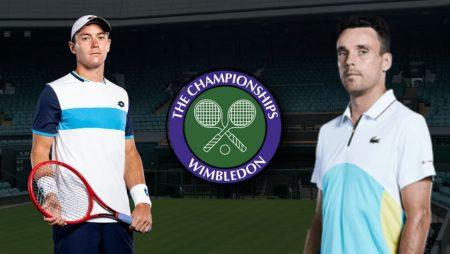 Apostas Dominik Köepfer vs Robert Bautista Agut Wimbledon 02/07/21