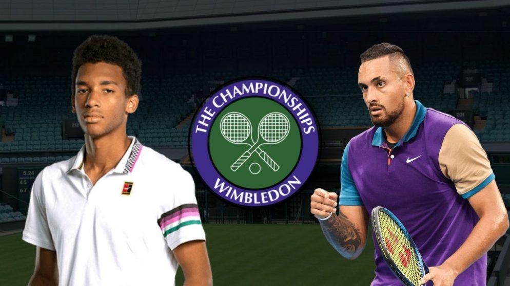 Apostas Felix Auger-Aliassime vs Nick Kyrgios Wimbledon 03/07/21