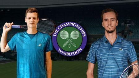 Apostas Hubert Hurkacz vs Daniil Medvedev Wimbledon 05/07/21