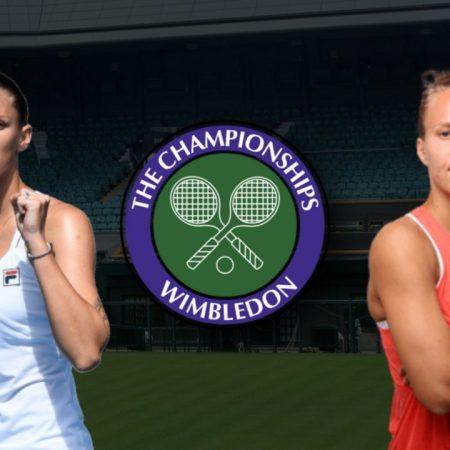 Apostas Karolína Plísková vs Viktorija Golubic Wimbledon 06/07/21