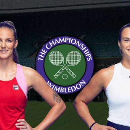 Apostas Karolína Plísková vs Aryna Sabalenka Wimbledon 08/07/21