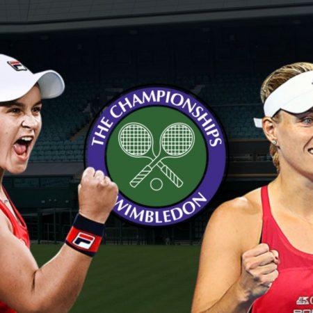 Apostas Ashleigh Barty vs Angelique Kerber Wimbledon 08/07/21