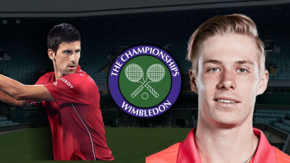 Apostas Novak Djokovic vs Denis Shapovalov Wimbledon 08/07/21