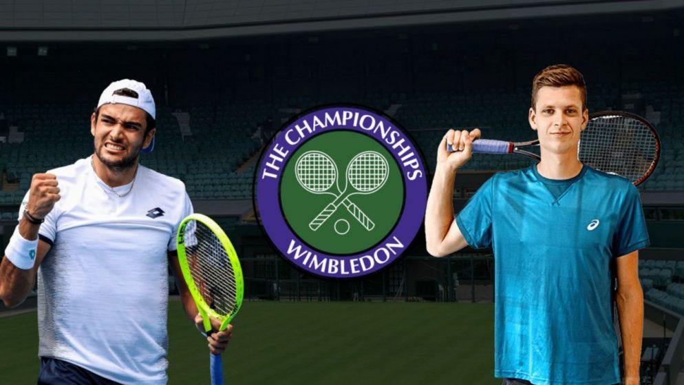 Apostas Matteo Berrettini vs Hubert Hurkacz Wimbledon 08/07/21