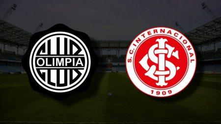 Apostas Club Olimpia vs Internacional Libertadores 15/07/21