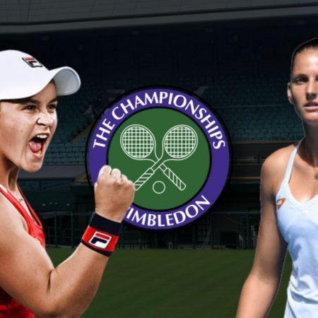 Apostas Ashleigh Barty vs Karolína Plísková Final Wimbledon 10/07/21