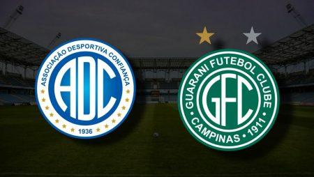 Apostas Confiança vs Guarani Brasileirão Série B 16/07/21