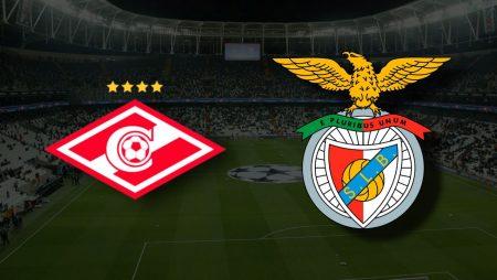 Apostas Spartak Moscovo vs Benfica Liga dos Campeões 04/08/21