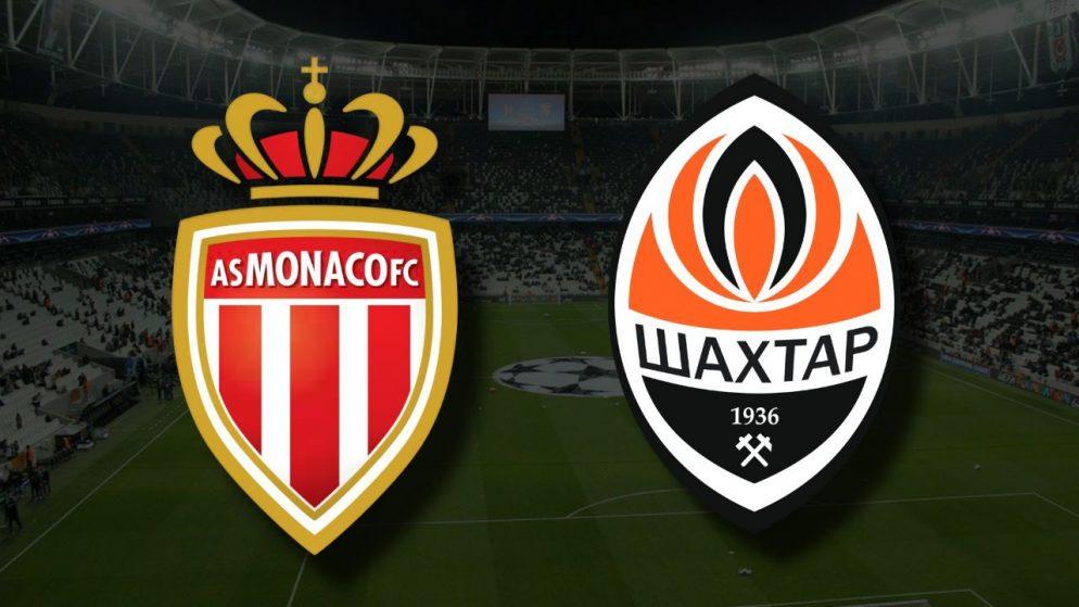Apostas Mónaco vs Shakhtar Donetsk Qualificação Liga dos Campeões 17/08/21