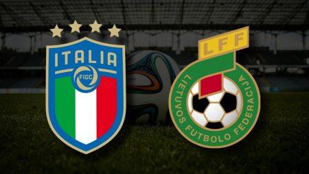Apostas Itália vs Lituânia Qualificação Copa do Mundo 08/09/21