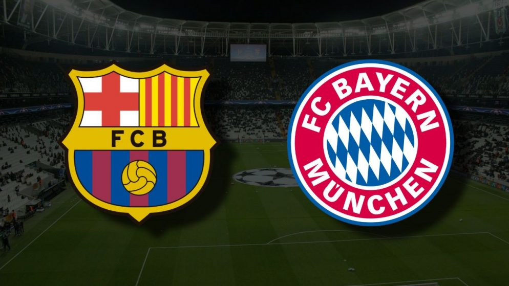 Apostas Barcelona vs Bayern de Munique Liga dos Campeões 14/09/21