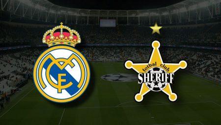 Apostas Real Madrid vs Sheriff Tiraspol Liga dos Campeões 28/09/21