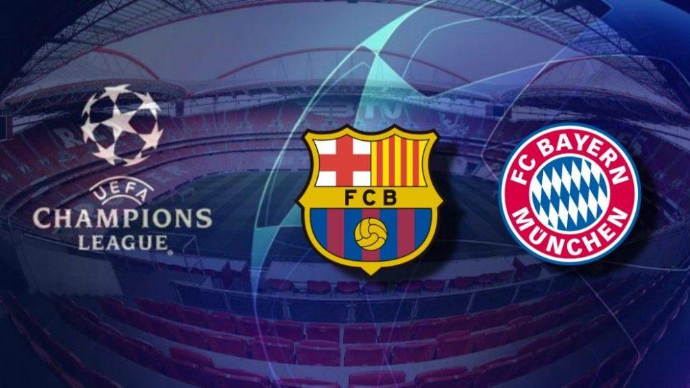 Apostas Barcelona x Bayern de Munique Champions League 14/08/2020