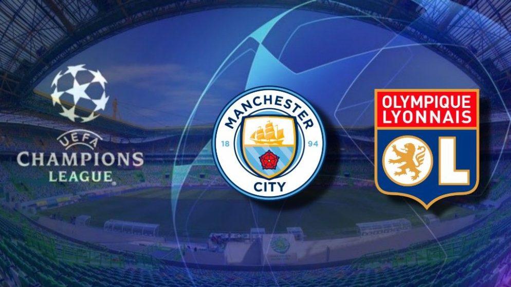 Apostas Manchester City x Lyon Champions League 15/08/2020