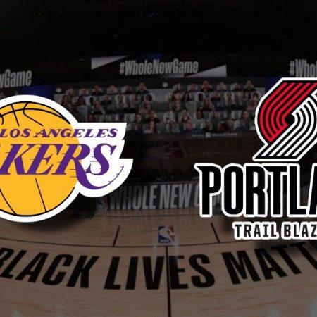 Apostas Los Angeles Lakers x Portland Trail Blazers Jogo 5 NBA 26/08/2020