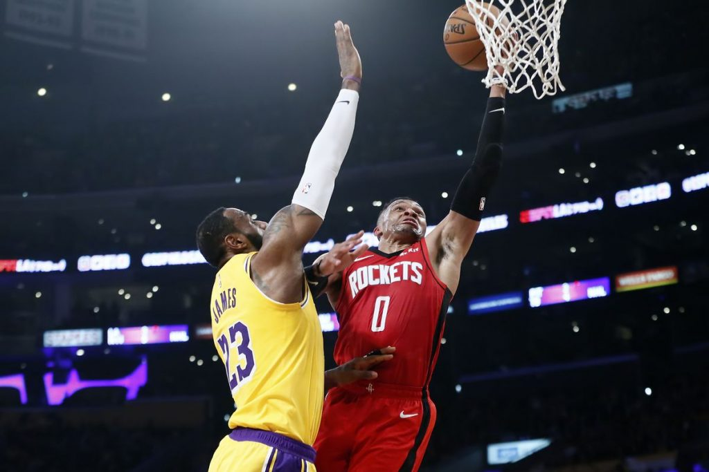 Apostas Rockets x Lakers