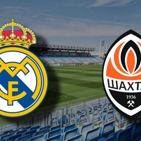 Apostas Real Madrid x Shakhtar Donetsk UEFA Champions League 21/10/2020