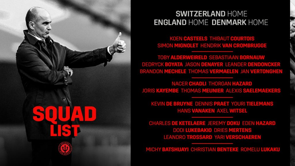 Apostas Bélgica x Suíça