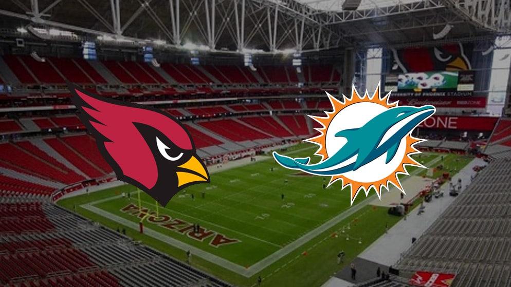 Apostas Cardinals x Dolphins NFL 08/11/2020