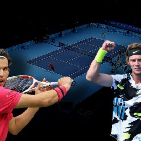 Apostas Dominic Thiem x Andrey Rublev ATP World Tour Finals 19/11/2020