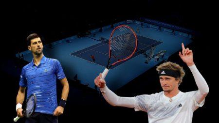 Apostas Novak Djokovic x Alexander Zverev ATP World Tour Finals 20/11/2020