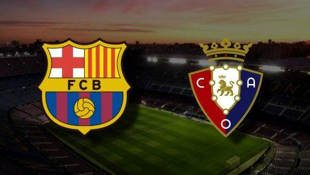 Apostas Barcelona x Osasuna La Liga 29/11/2020