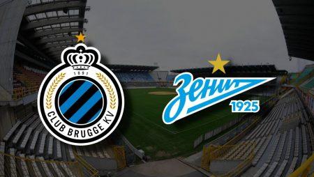Apostas Brugge x Zenit Liga dos Campeões 02/12/2020