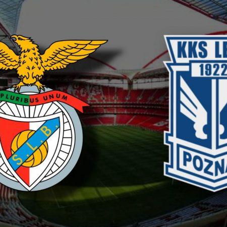 Apostas Benfica x Lech Poznan Liga Europa 03/12/2020