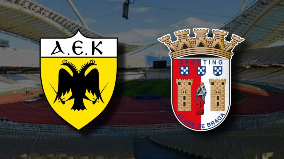 Apostas AEK Atenas x Braga Liga Europa 03/12/2020