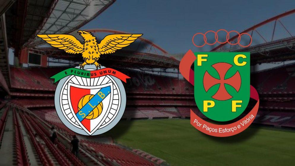 Apostas Benfica x Paços de Ferreira Campeonato Português 06/12/2020