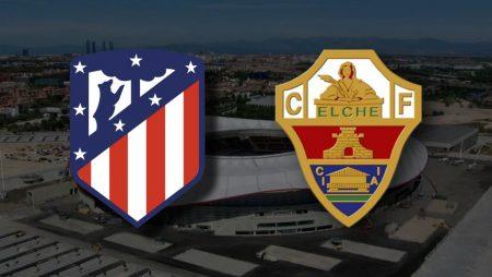 Apostas Atlético de Madrid x Elche La Liga 19/12/2020