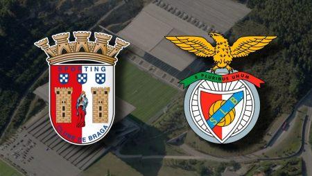 Apostas Braga x Benfica Taça da Liga 20/01/2021