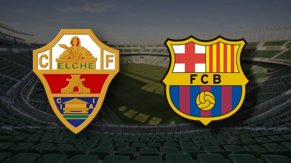 Apostas Elche x Barcelona La Liga 24/01/2021