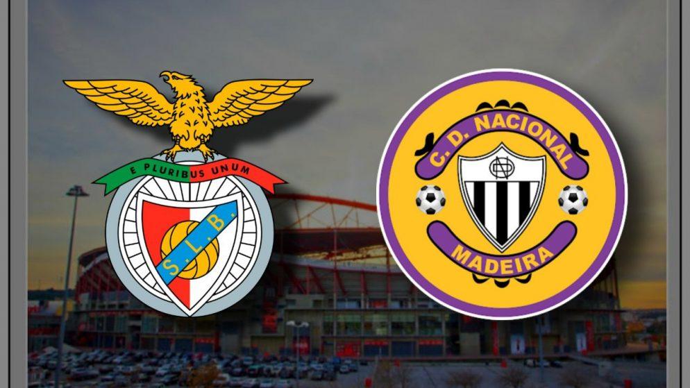 Apostas Benfica x Nacional Campeonato Português 25/01/2021