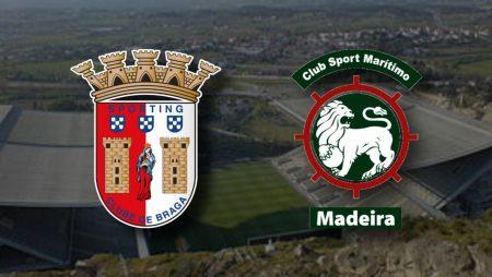 Apostas Braga x Marítimo Campeonato Português 07/01/2021