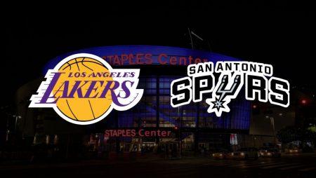 Apostas Los Angeles Lakers x San Antonio Spurs NBA 08/01/2021