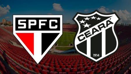 Apostas São Paulo x Ceará Brasileirão 10/02/2021