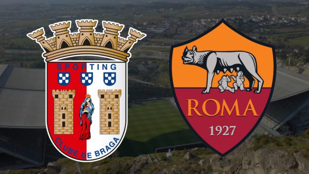 Apostas Braga x Roma Liga Europa 18/02/2021