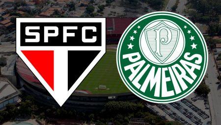 Apostas São Paulo x Palmeiras Brasileirão 19/02/2021
