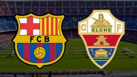 Apostas Barcelona x Elche La Liga 24/02/2021