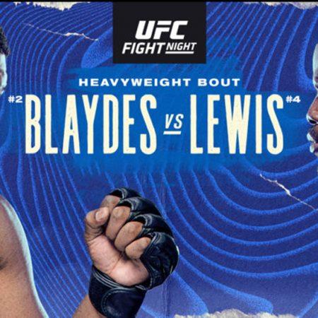 Apostas UFC Blaydes x Lewis 20/02/2021