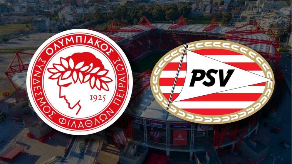 Apostas Olympiacos x PSV Eindhoven Liga Europa 18/02/2021