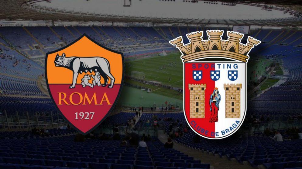 Apostas Roma x Braga Liga Europa 25/02/2021