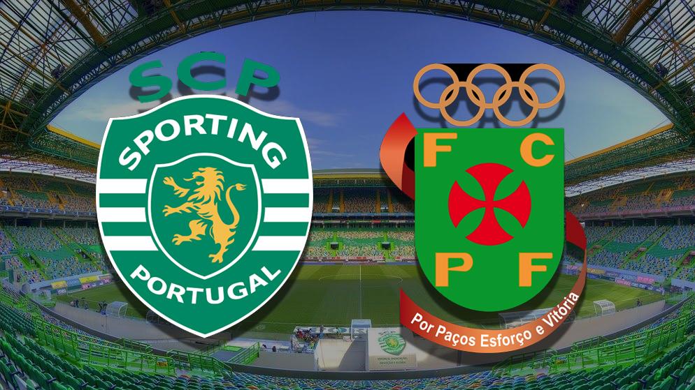 Apostas Sporting x Paços de Ferreira Campeonato Português 15/02/2021