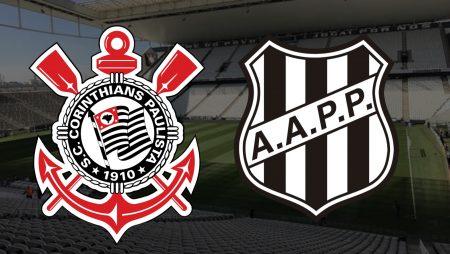 Apostas Corinthians x Ponte Preta Paulistão 07/03/2021