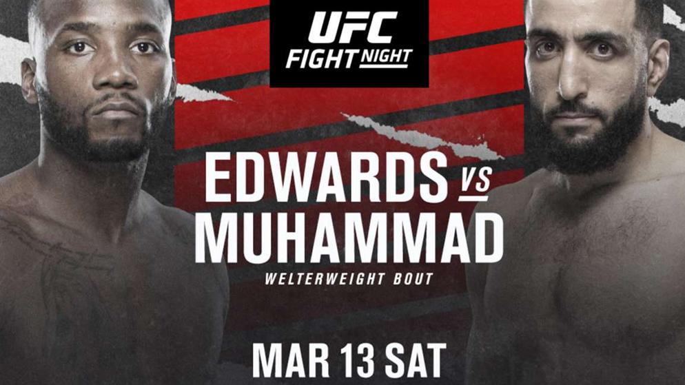 Apostas UFC Edwards x Muhammad 13/03/21
