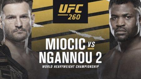 Apostas UFC 260 Miocic x Ngannou 27/03/20